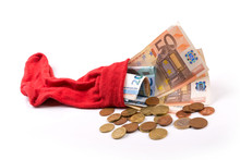 Retirement Savings Concept - Euro Money In The Sock