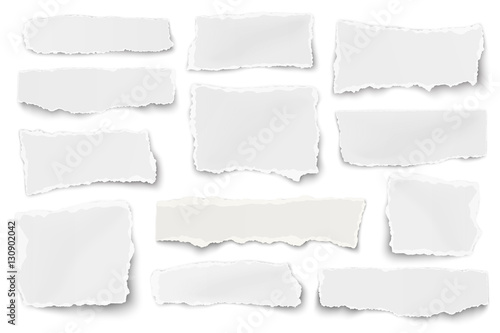 Set of paper different shapes scraps isolated on white - 130902042