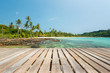 Wooden terrace at the tropical beach, Located Koh Kood Island, Thailand