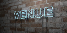 VENUE - Glowing Neon Sign On S...