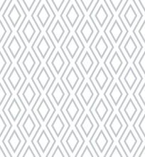 Vector Seamless Pattern. Modern Stylish Texture. Monochrome Geometrical Pattern With Rhombus.