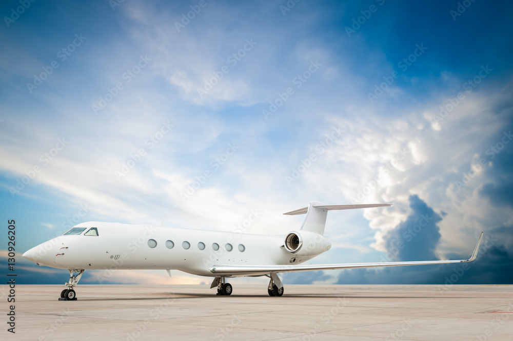Fototapety, obrazy: jet plane parked with nice cloud