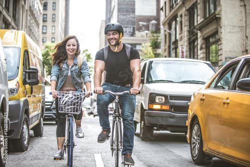 Fotografie, Tablou Cyclists in New York