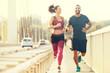 Happy Couple Jogging