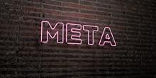 META -Realistic Neon Sign On B...