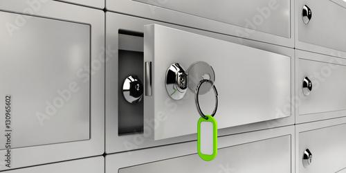 Fototapeta 3d Illustration of Open Safe Deposit Boxes, Realistic object obraz