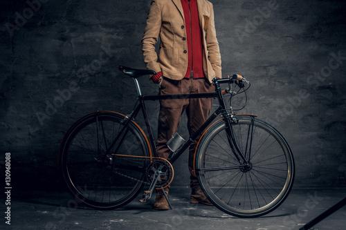 Deurstickers Fiets Vintage single speed hipster's bicycle.