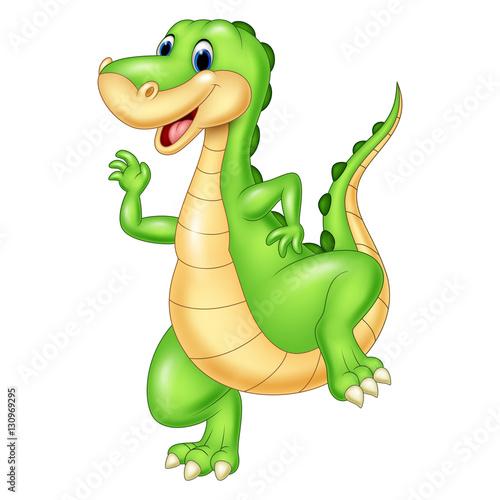 Cartoon zielony dinozaur