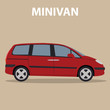 Car Minivan vehicle transport type design