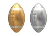Gold And Silver American Footb...