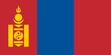 Nice Drawing Of Amazing Horizontal Mongolian Flag.