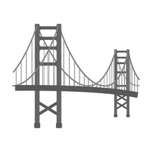 Golden Gate Bridge Icon In Mon...