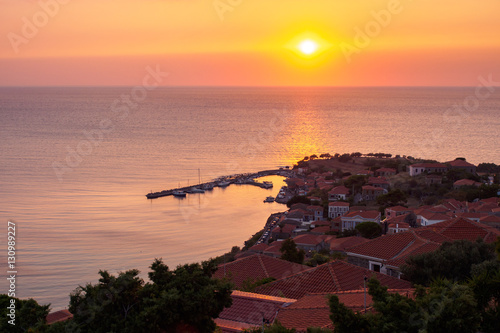 Photo Molyvos by sunset, Lesbos, Greece