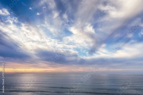 seascape with beautiful clouds