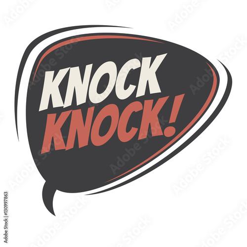 knock knock retro speech balloon Fototapete