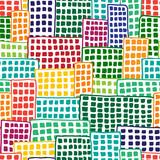 Multicolored blocks of flats, seamless vector pattern - 131013219
