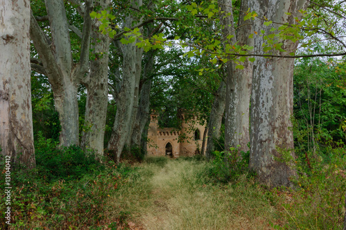 Poster Ruine small castle for play children