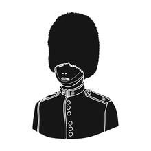 Queen's Guard Icon In Black St...