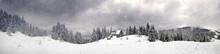 Monastery On A Snowy Mountain