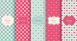 Pink heart seamless pattern background