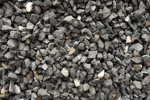 coarse aggregate - a stack of gravel / grit crushed and broken at a stone pit Wallpaper Mural