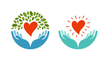 Love, Ecology, Environment Icon. Health, Medicine Or Oncology Symbol