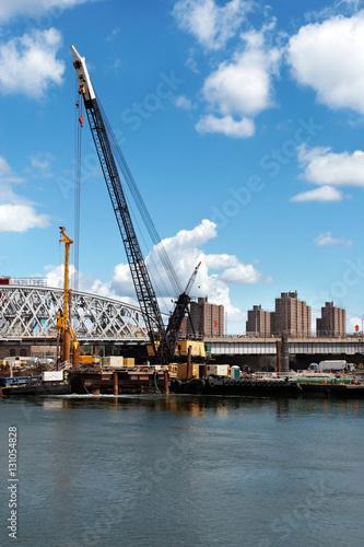 River's edge construction © Jo Ann Snover