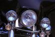 headlight closeup of motorcycle