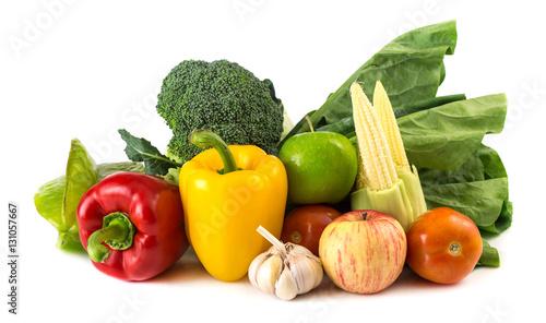 Healthy food on white © banprik