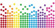 Rainbow Colorful Polkadots