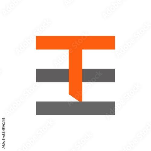 Photo  t and e logo vector. logo template.