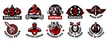 Set Of Superhero Logos. A Coll...