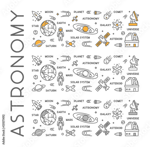 Vector line design concept for astronomy Wall mural