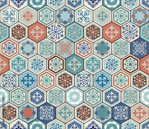 wektor-orientalny-wzor-realistyczne-vintage-marokanski-portugalski-szesciokatne-plytki-tlo-patchwork-efekt-grunge