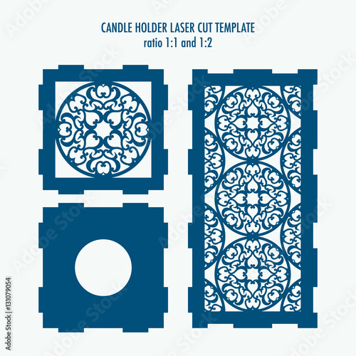 Laser cut template for candle holder. DIY laser cutting template for ...