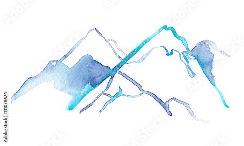 prosta-abstrakcjonistyczna-sniezna-gora