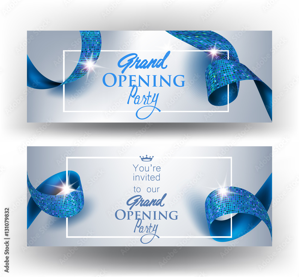 Photo Art Print Elegant Grand Opening Invitation Cards
