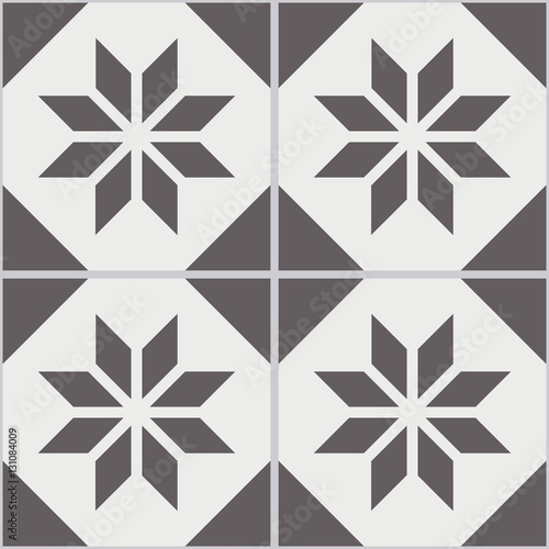 de59c31aaaf Vintage seamless wall tiles of worn out black white polygon ...