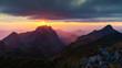 Mountain sunset landscape,Nature outdoor in wonderland,Mountain
