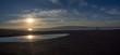 Puesta de sol en el Delta del Ebro, Tarragona, España, en las vacaciones de Diciembre de 2016