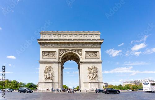 Valokuva  PARIS, FRANCE - August 28, 2016 : Arc de triomphe in Paris, one