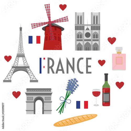 France travel and culture Wallpaper Mural