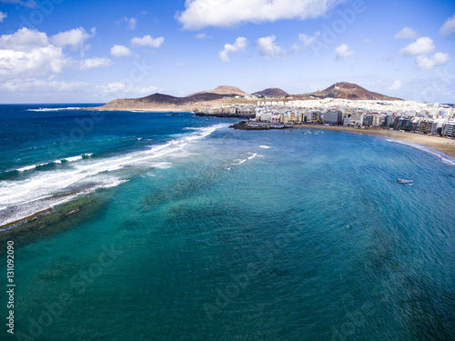 Beach of Las Canteras in the city of Las Palmas, Gran Canaria.