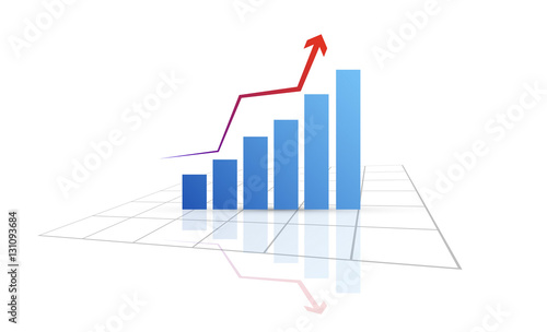 Fotografía  grafico economia, istogrammi, statistiche