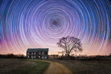Abandoned House Star Trails