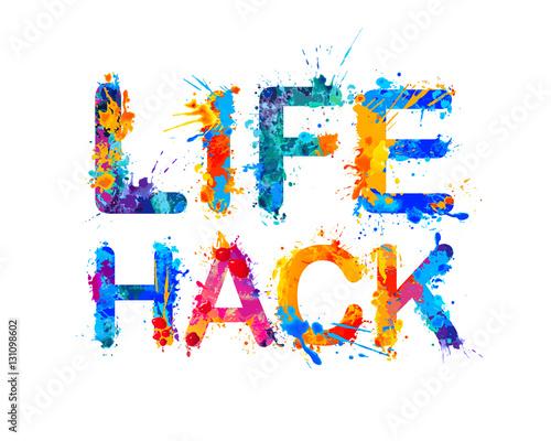 Fototapety, obrazy: Life hack. Splash paint