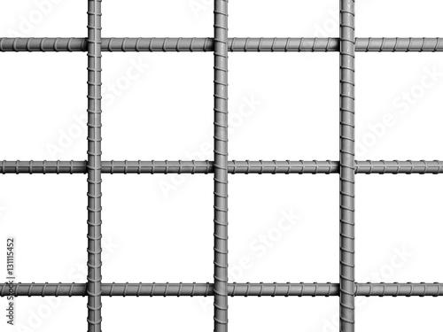 3d metal rebar © tiero