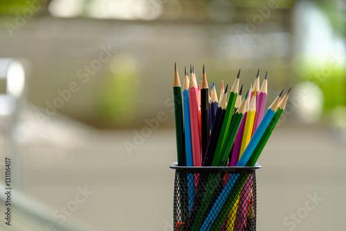 Obraz na płótnie Color pencils in box.