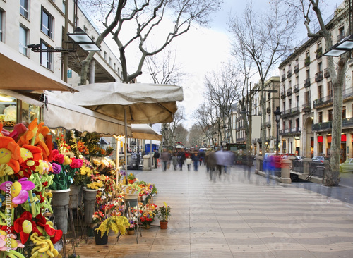 Papiers peints Barcelona La Rambla in Barcelona. Spain