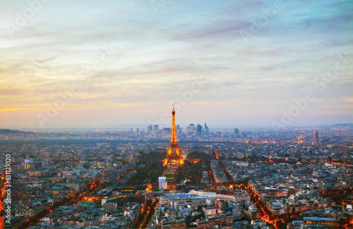Printed kitchen splashbacks Eiffel Tower Cityscape of Paris with the Eiffel tower